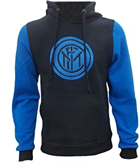 Perseo Trade Felpa Inter Nera con Cappuccio Abbigliamento FC Internazionale PS 27859