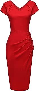 Women's Retro 1950s Style Sleeveless Slim Business Pencil Dress
