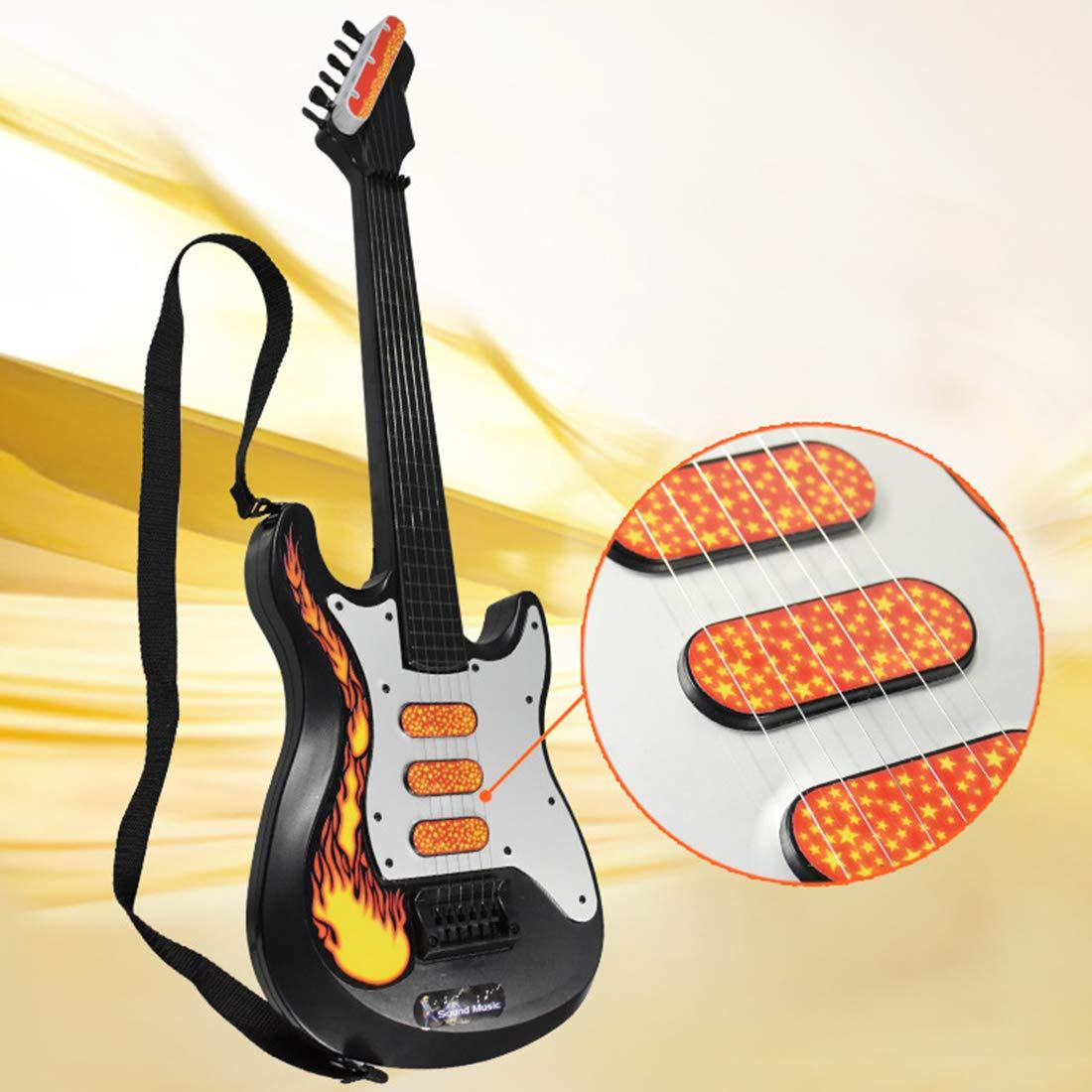 POXL Infantil Electrica Guitarra, 3 Piezas 6 Cuerdas Niños Guitarra Música Instrumentos con Micrófono y Altavoz para Principiantes Niño y Niña 3 años +: Amazon.es: Juguetes y juegos