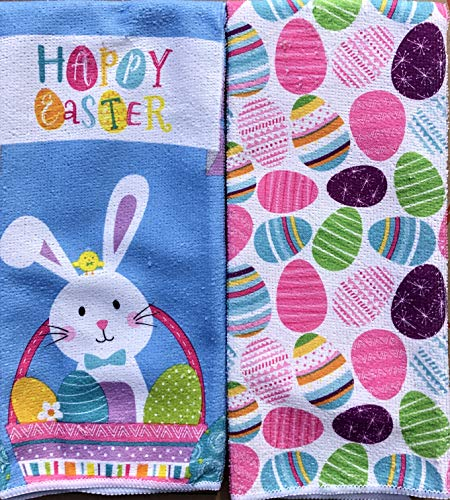 Easter Bunny Kitchen Hand Towels Decorative Towels Set of 2 Fun