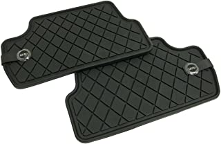 Mini Cooper and Cooper S Floor Mats, All Weather Rear Black, OEM for All Hatchback F55 Models (2014 - Current.)