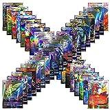 Juego de Tarjetas de Pokémon GX, 120 Tarjetas de Pokémon con 115 Tarjetas de Intercambio GX + 5 Tarjetas de Mega Pokémon para Niños y Niños