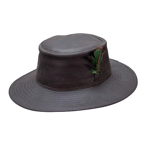 a69b8ee1 Mens Aussie Sun Hat Fishing Hunting Walking Shooting 100% Wax Cotton S-XXL  NEW