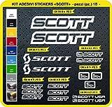 Pimastickerslab - Cod. 0112 - Lot de 18 autocollants pour vélo Scott - Coloris au choix, Bianco cod. 010