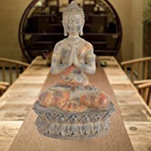 Thai Buddha Statue Meditation Peace Harmony Statue Religious Decoration Southeast Asian Style Crafts 22.5×15.5×36cm CQQO (...