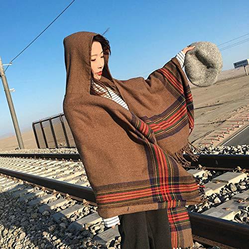 Gitter Poncho Cape Mit Hut Reversible Oversized Shawl Wrap Open Front Cardigans Decke Bequeme Weiche Fleece Nerz Micro Plüsch Wrap Throws Decke Robe Schön Für Frauen,Braun