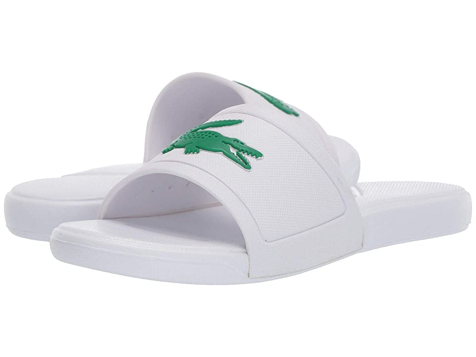 Lacoste Kids L.30 Slide 119 2 CUC (Little Kid) (White/Green) Kid