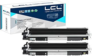 LCL Compatible Toner Cartridge Replacement for HP 130A CF350A MFP M176n M177fw (2-Pack Black)