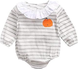 Mornyray Unisex Baby Long Sleeve Triangle Romper Cotton Apple Pattern Stripe Jumpsuit