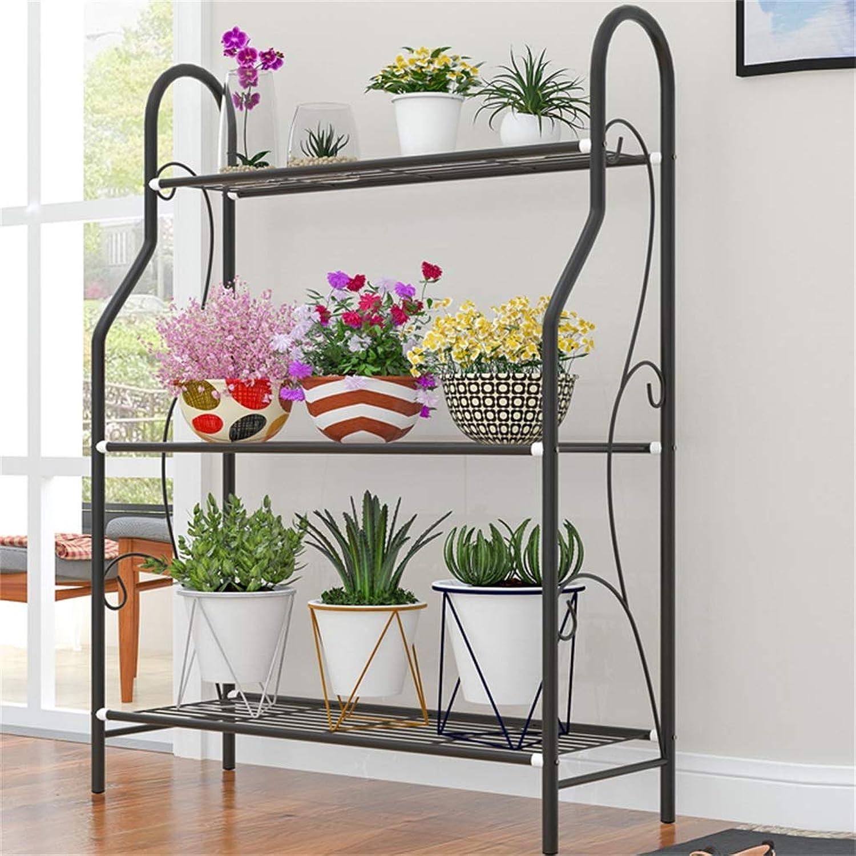 Metal Flower Stand Flower Pot Display Stand Multi-Layer Design Bathroom and Kitchen Storage Rack Cabinet Rack Multi-Purpose