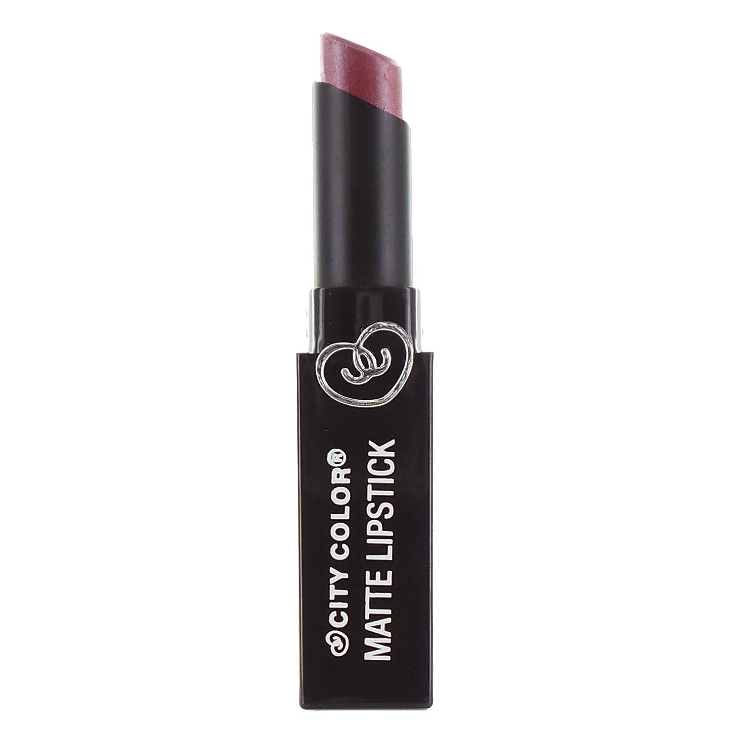 で出来ているるモルヒネCITY COLOR Matte Lipstick L0050B - Pansy (並行輸入品)