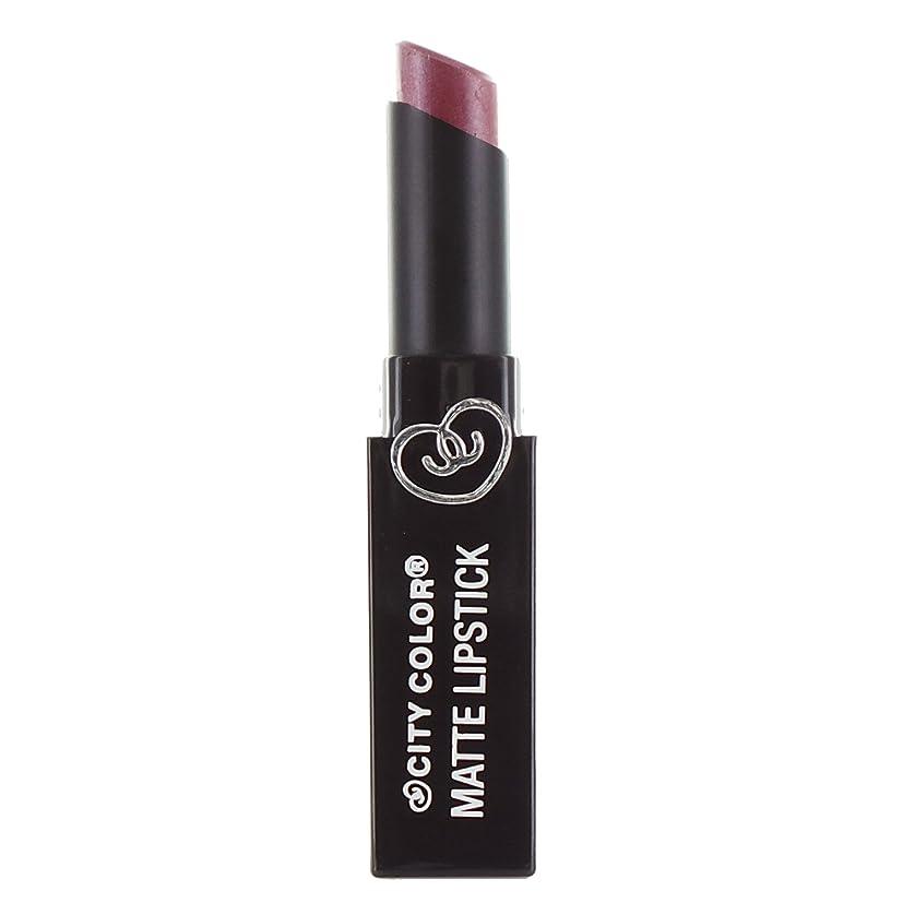 活性化不誠実レザーCITY COLOR Matte Lipstick L0050B - Pansy (並行輸入品)