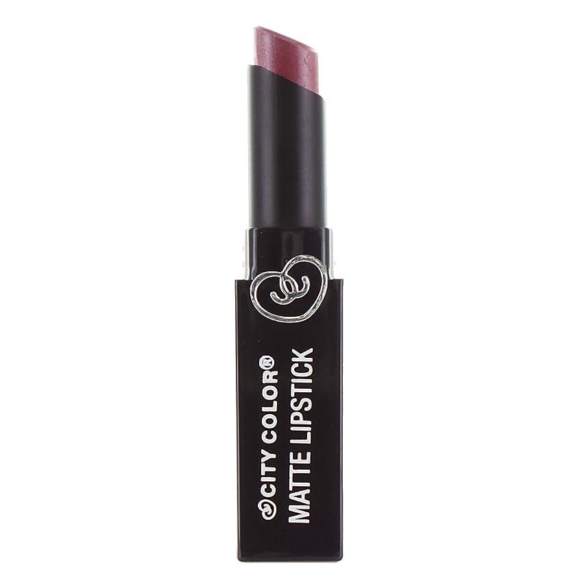 説得いつクリケットCITY COLOR Matte Lipstick L0050B - Pansy (並行輸入品)