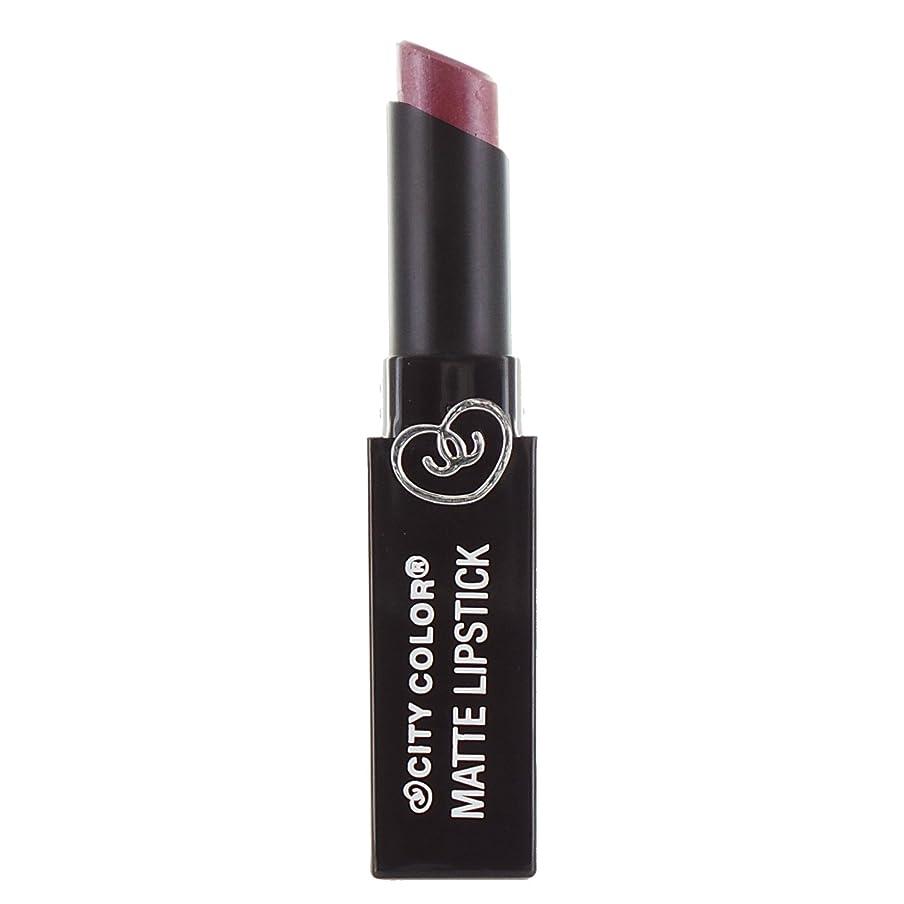 モディッシュ歴史ビジターCITY COLOR Matte Lipstick L0050B - Pansy (並行輸入品)