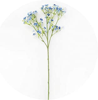 Christmas Decoration Plants Silk Snowy Stars Artificial Flower Bouquet 3 Colors Wedding Flowers DIY Accessories Home Party Decor,Blue