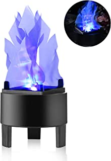 TOPCHANCES Flame Effect Light, 110V 3W 3D LED Artificial Fake Fire Flame Effect Light Campfire Centerpiece Flame Lightning Torch Light for Christmas Halloween Stage Indoor Decoration (Blue)