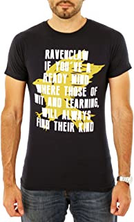 HARRY POTTER Ravenclaw Motto Crest Hogwarts School of Wizardry T Shirt Navy