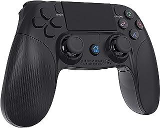 【2021年最新版】TopACE PS4 コントローラー FPS改良 Bluetooth 無線 HD振動 ゲームパット搭載 高耐久ボタン イヤホンジャック スピーカー DUALSHOCK 4代用 PS3 コントローラー(ブラック)