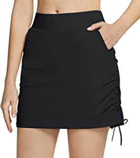 CQR Women's Outdoor Skort, UPF 50+ Active Athletic Casual Skirt with Shorts, Hiking Golf Travel Casual Skort with Pockets