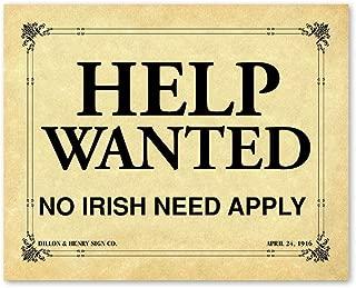 help wanted no irish need apply