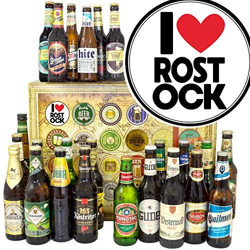 I love Rostock/Ideen Geburtstag Rostock/Bier aus aller Welt und D 24x / Adventskalender Bier 2019