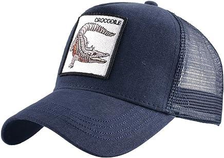KISSBAOBEI Unisex Wild Animal Mesh Snap Back Trucker Hat Men s Baseball Cap 5b192b45d6b5