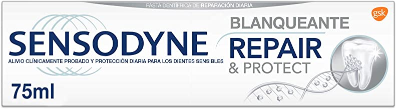 Sensodyne Repair & Protect - Blanqueante, ayuda a eliminar las manchas y alivia la sensibilidad dental - 75 ml
