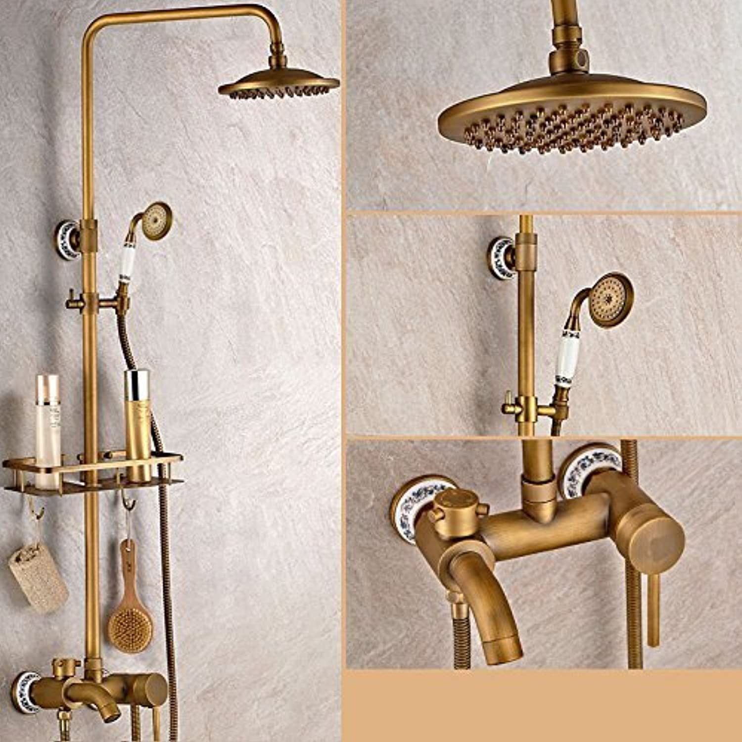 Wall Hanging Drawing Shower Bath Copper Full Ceramic Elevator Shower Function Shower