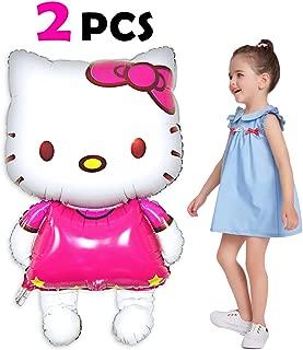 Pawliss Hello Kitty Airwalker Foil Mylar Helium Balloon Birthday Party Decoration Supplies, Large Size 33