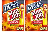 Slim Jim Original Snack Sticks, 0.28 Ounce, 14 Count (Pack of 2)
