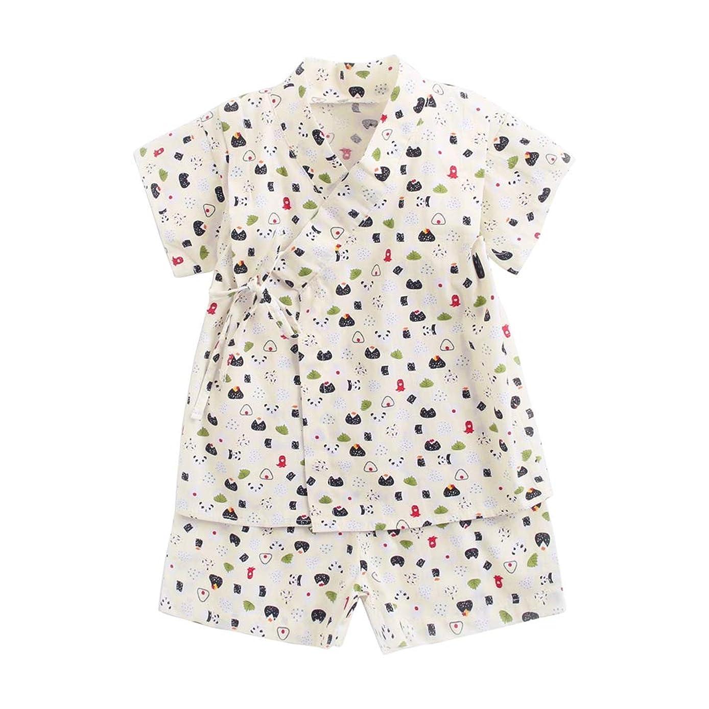 LJYH Baby Boys Girls Kimono Shirt and Shorts Cotton Pajamas Sets