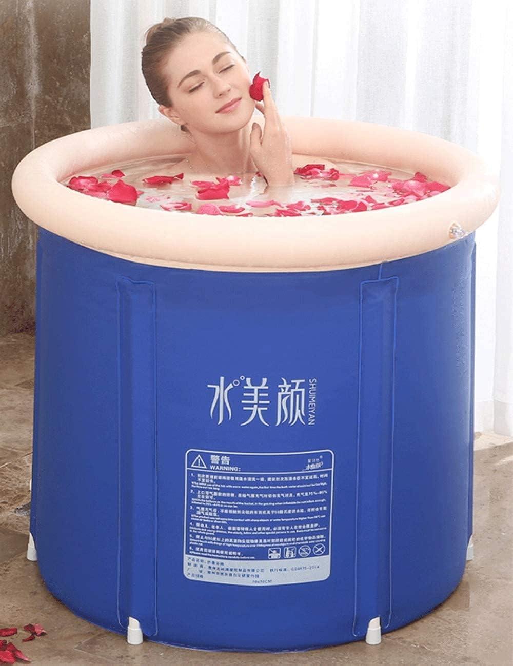 Folding Bathtub Blue Bath Barrel Adult Ice Home Body T Sacramento Mall Store Full