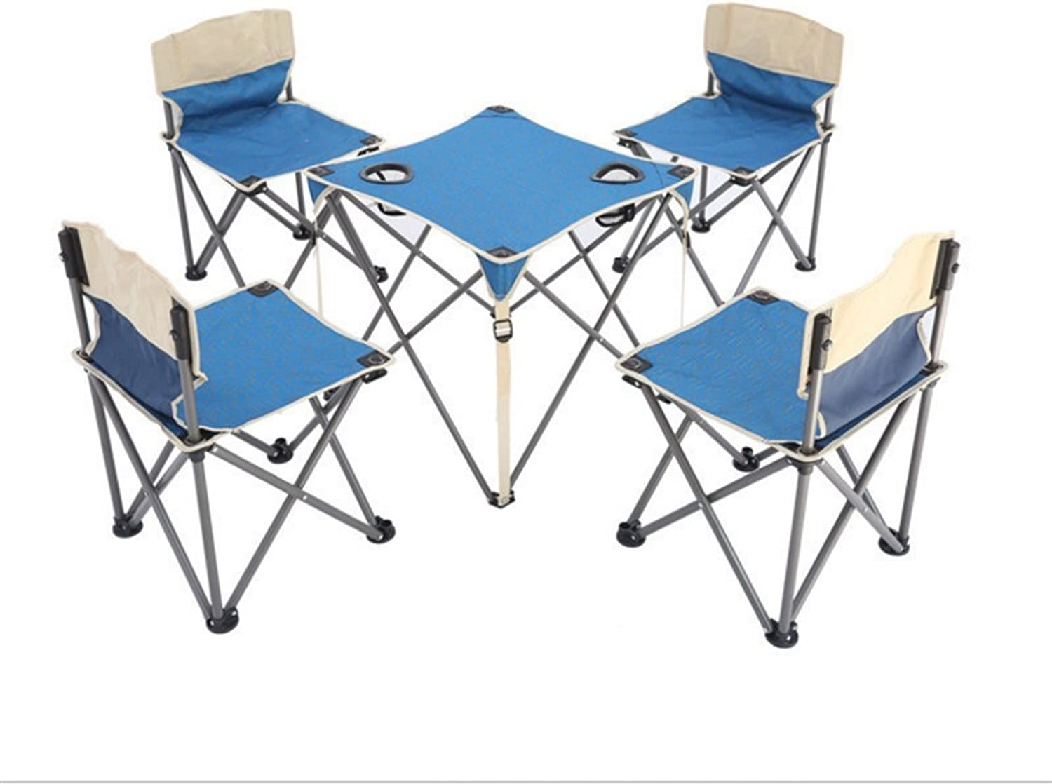 Outdoor Folding Chair Outdoor FivePiece Set Portable Folding Tables and Chairs Camping Tables and Chairs Picnic Table Coffee Table