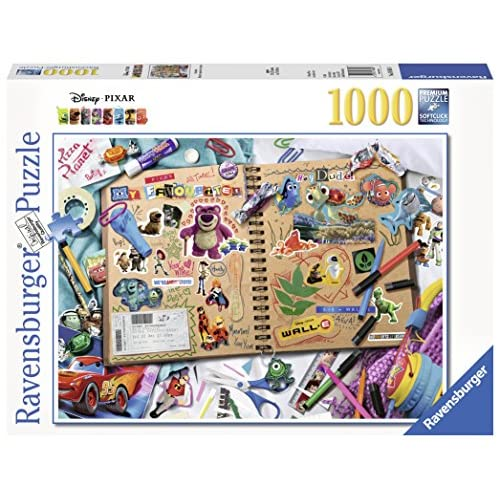 Ravensburger Puzzle, Puzzle 1000 Pezzi, Disney Pixar Scrapbook, Puzzle per Adulti e Ragazzi, Puzzle Disney, Puzzle Ravensburger - Stampa di Alta Qualità