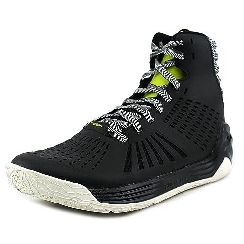 38c28b212cf4 Tesh Men s Trigger Leather High Top Basketball Athletic Shoe Black Size 11.5