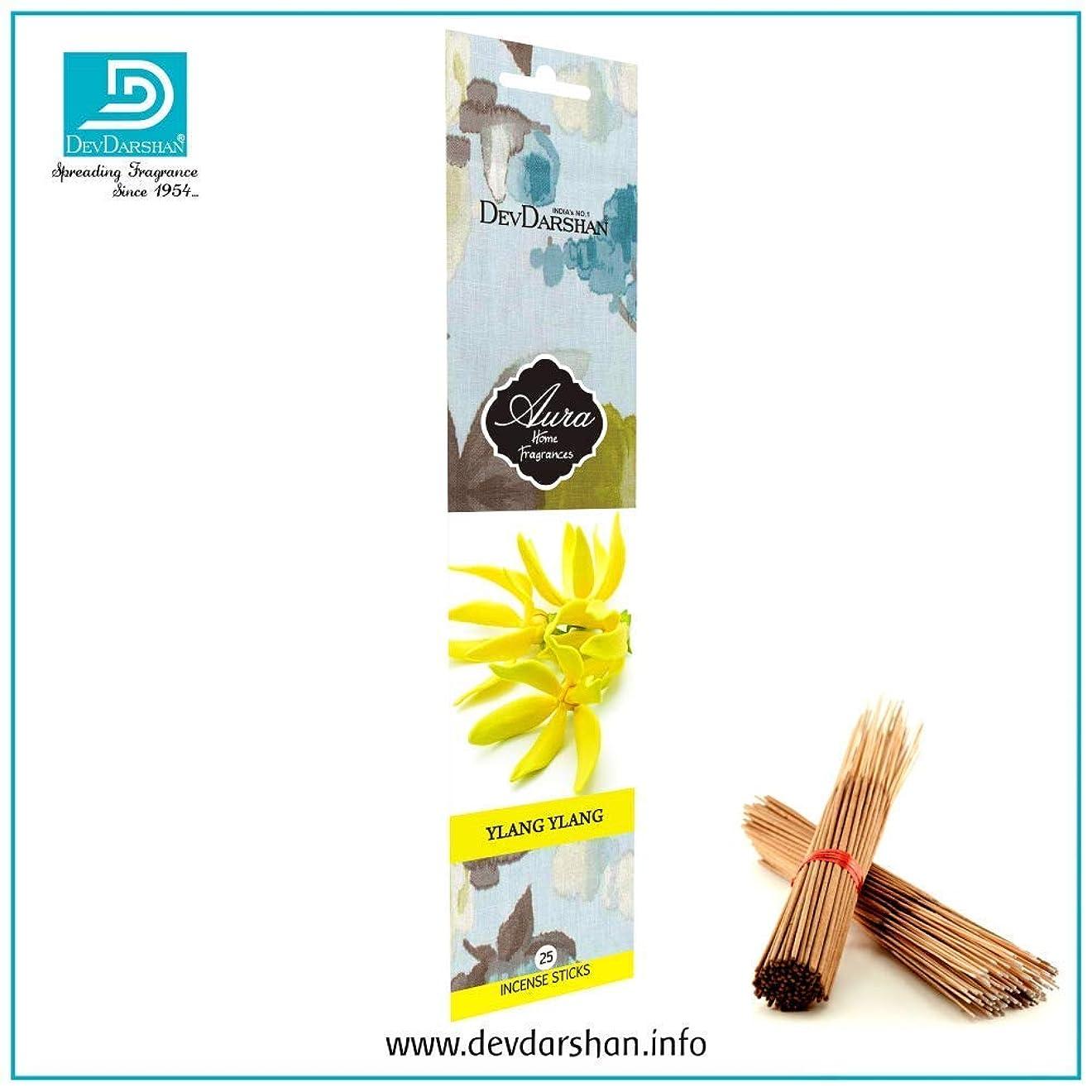 異形動かす真向こうDevdarshan Aura Ylang Ylang 3 Packs of 25 Incense Stick Each