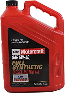 Ford Genuine Fluid XO-5W40-5QSD SAE 5W-40 Full Synthetic Diesel Motor Oil - 1.25 U.S. Gal CASE OF 3