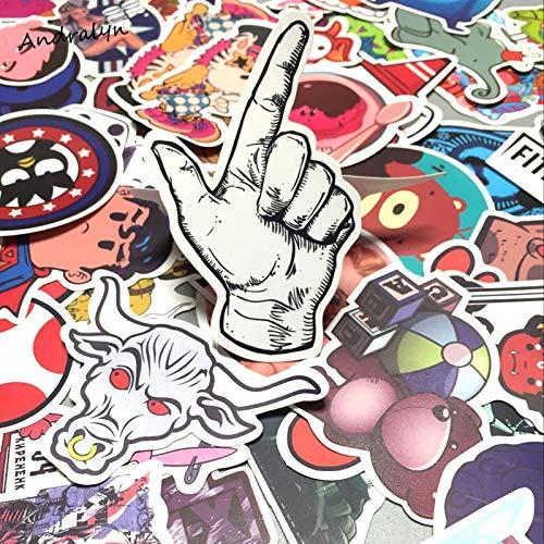 GADGETS WRAP 300 Pcs Sticker Mixed Funny Cartoon Decal Skateboard Doodle Snowboard Luggage Home Decor Brand Car Bike Moto Toys JDM Stickers