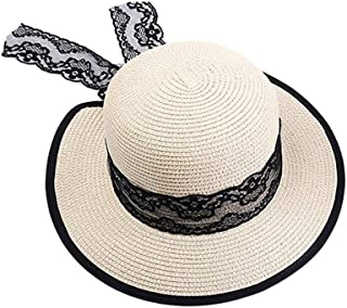 Hats Travel Cool Women's Hat Breathable Lightweight Straw Hat Fashion (Color : Beige, Size : M)