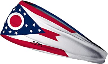 JUNK Brands Ohio Flag Headband, Red, One Size