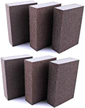 Lheng 220 Grit Wet Dry Sanding Sponge Buffing Diamond Polishing Pads Hand Sanding Tool 6pcs