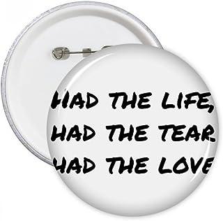 DIYthinker Célèbre poésie Citation vie Tear Amour de Pins Badge Bouton Vêtements Décoration 5pcs cadeaux Multicolore S