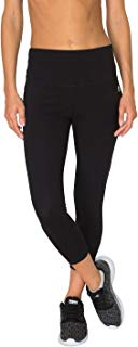 RBX Active Women's Cotton Spandex Tummy Control Capri Workout Legging