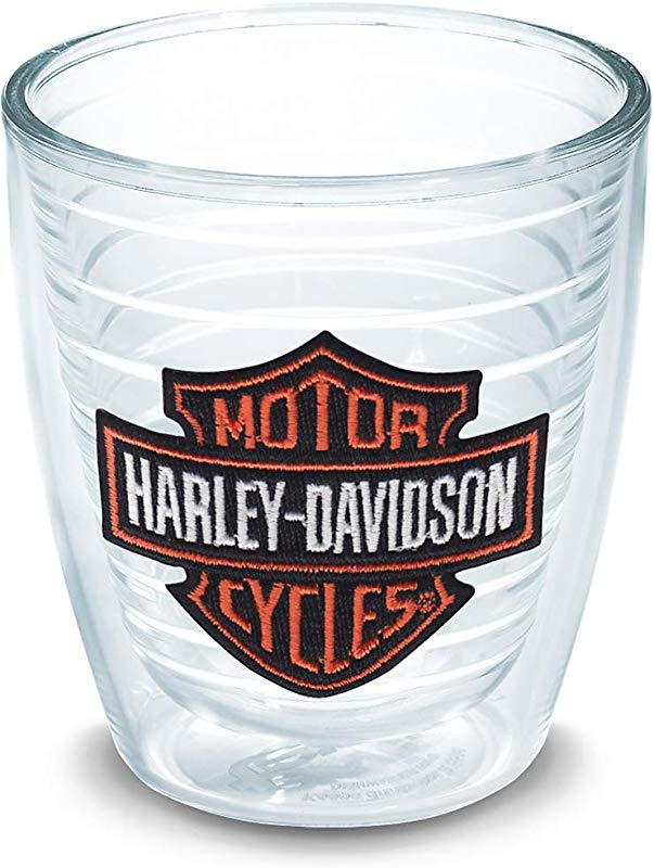 Tervis 1074811 Harley Davidson Bar Shield Insulated Tumbler With Emblem 12 Oz Clear