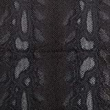 Fabulous Fabrics Folienjersey Schlange – schwarz —