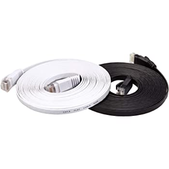 Patch Lead RJ45 Color : Blue Black Psrgshdfhd 15m CAT6 Ultra-Thin Flat Ethernet Network LAN Cable