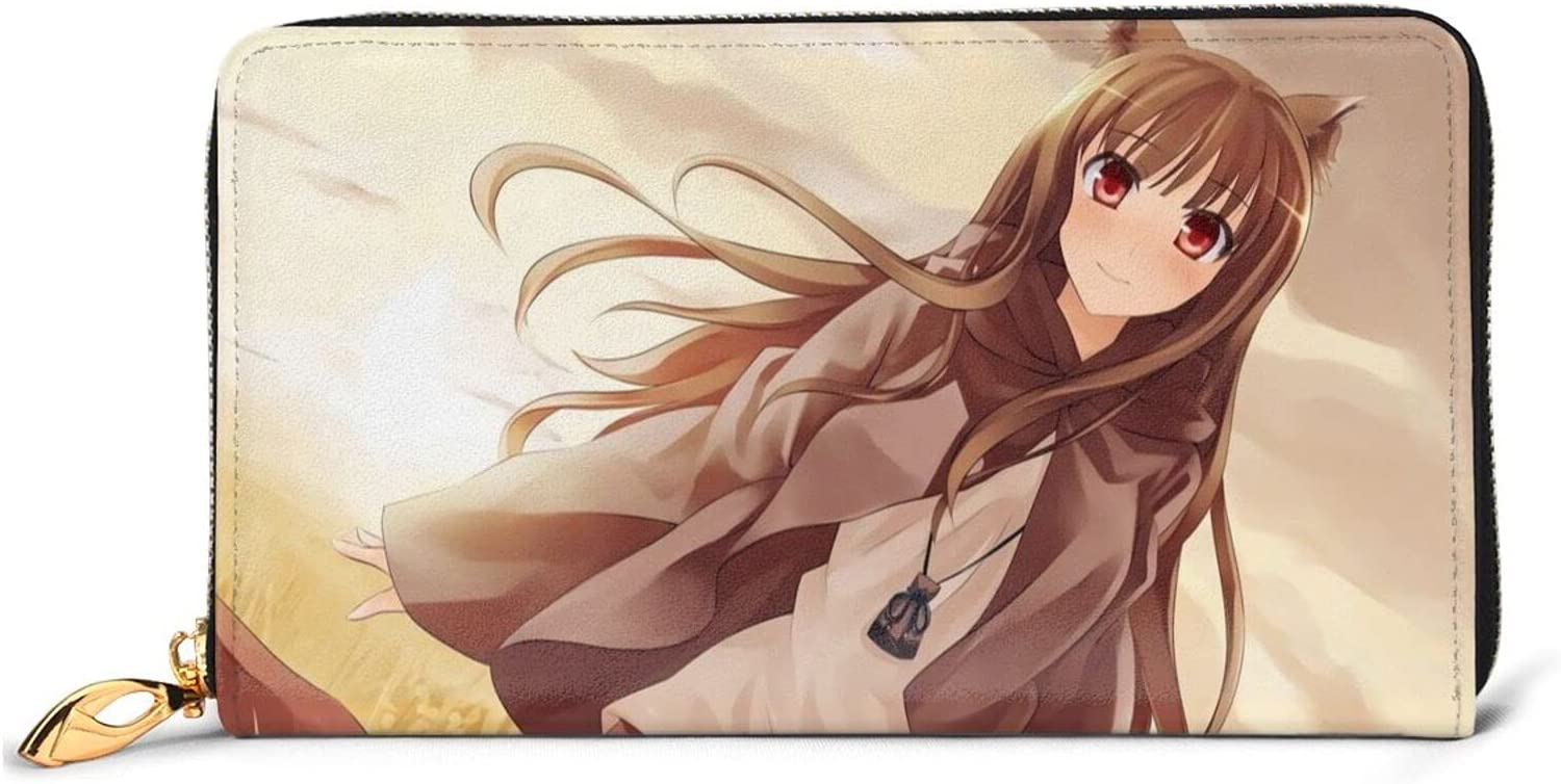 Spice and Wolf Holo Printing Anime Leather Interesting Wallet Ca Cheap mail order New Free Shipping sales