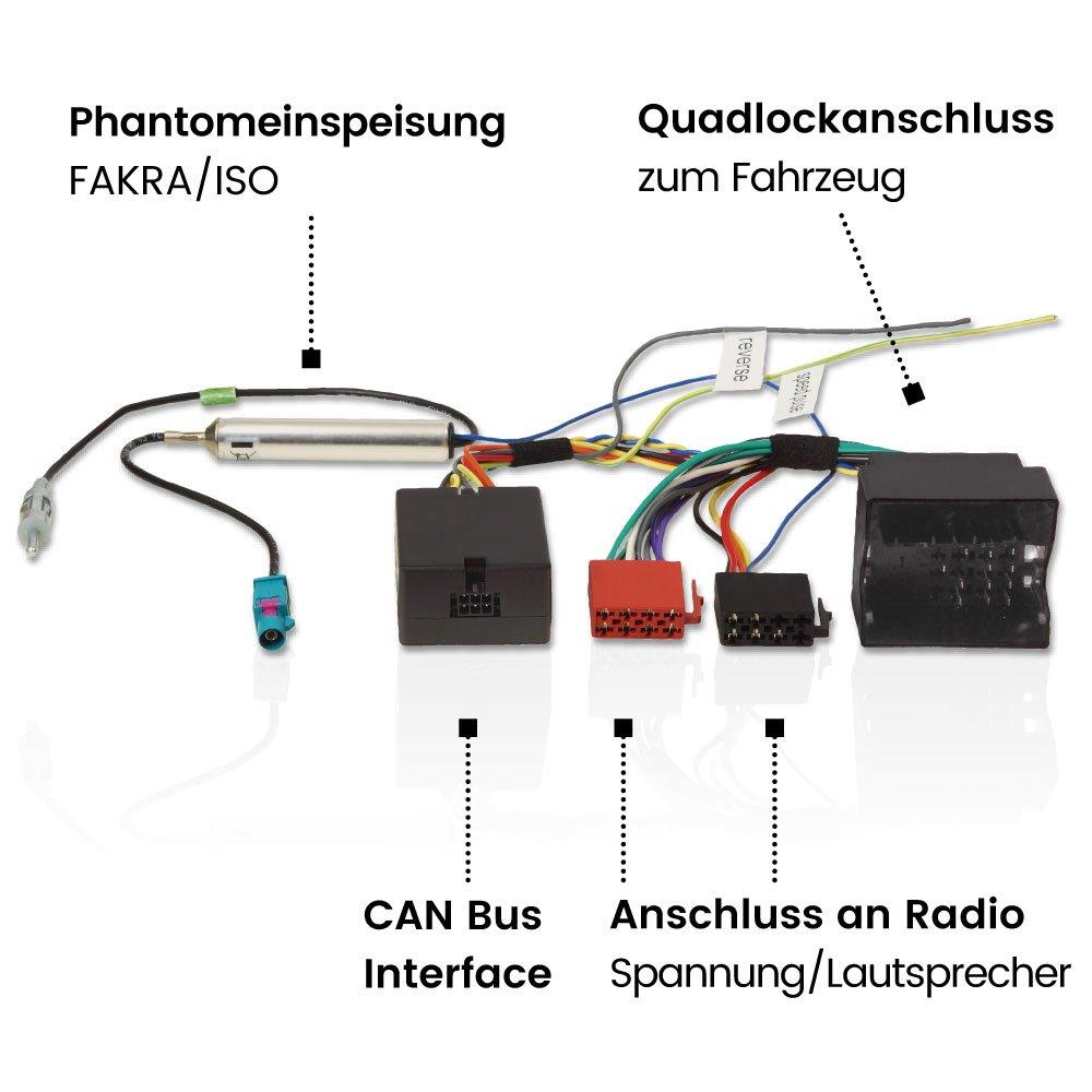 Aux Line en adaptador Mini Conector ISO para VW Passat 3bg