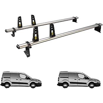 Van Guard Ulti Bar 2 Roof Bars And 4 Load Stops For Peugeot Partner 08 18 Amazon Co Uk Car Motorbike