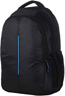 Polyester 15 L Blue School Bag with Laptop Compartment (Black)